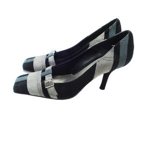 ANN MARINO Suede Heels with Buckle (Size 8.5M)